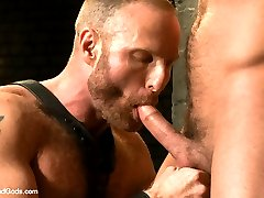 New dom of the house, Alan Ladd is a sexy hairy muscle daddy with a fat cock. He approaches his...