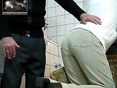 Beaten in the bathroom severley marked bared bottom