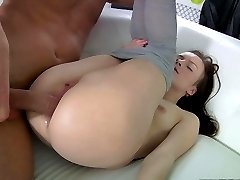 This is really the first anal sex in her life, and she asked us to be very attentive and delicate with her lovely butt