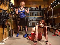Cruel and sexy dominatrix Cherry Torn allows hot pain slut Violet Monroe to pick her implements of torment. Violet takes tons of spanking, the zapper, fingerbanging, nipple clamps, flogging, a hard caning, face sitting, a but plug and dildo DP, a thumb in ass with pussy strap-on, and an orgasmic anal strap-on fucking!