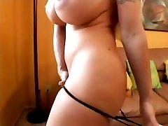 Really busty blonde does oral and then gets her pussy hammered