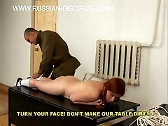 Cute russian girls brutally spanked, caned humiliated