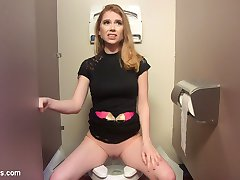 When Veruca James catches hot co-worker Pepper Hart masturbating in the stall, she uses that...