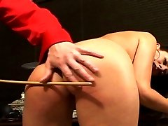 Will a caning discipline this feisty vixen? Hes going to try.