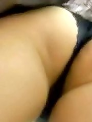 Gorgeous brunette girl walking in sexy black panties. Watch the vids!