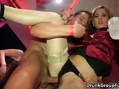 Horny pack of filthy sluts fucking cocks part6
