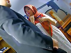 Cheating french wife takes it up the ass for the salesman
