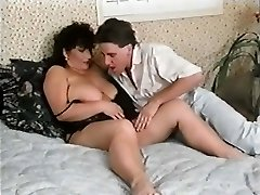 Cock-hungry fat mum gagged with a meaty shlong