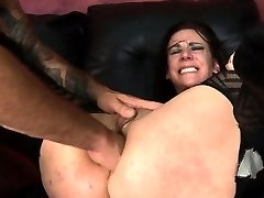 Hot fatty Gaborne services two huge dicks and even gets dildo fucked in this hardcore bbw threesome