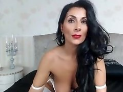 Chubby brunette in sexy business outfit fucks and jerks cock for a payrise