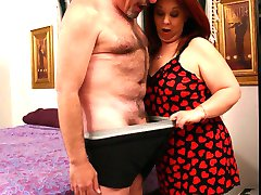Fat redhead Nina and her horny lover go for hardcore fucking in this wild BBW porn experience