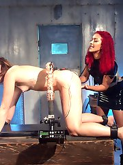 Daisy Ducati and Dylan Ryan drench each other in an orgasmic electrosex scene filled with...