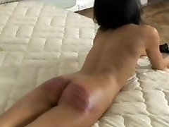 Sexy dominatrix Anastasia Pierce punishes her horny male submissive with gagging and hot wax...