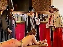 Sexy dominatrix Anastasia Pierce training her malesub and punishes him with her cane