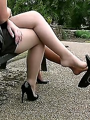 Kathryn and Elises high Heel shoes are sexual erotic and stimulating to every man who has a...