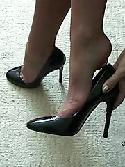 Michelle is personal about your shoe fetish once again, and she really does understand what it does to you when you are looking at a shoe with a good high shapely stiletto! If you are a true fetishist it makes it go hard really quickly and then you know what happens next, so does Michelle