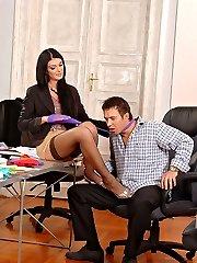 Hardcore foot fetish threesome