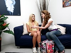 Kinky Kayla is throwing is throwing a sex toy party and you're invited. CUM on in for a sneak peek as this MILF shows her first guest and choice piece of fresh meat, Mindy, the in's and out's of her 'mother's little helper'. Once this amateur gets her cherry popped the real fun begins and they double down on the double dong.