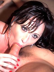 Cock starved MILF Devyn Devine downing a cock before taking it in her snatch by riding it on top