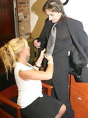 Busty Secretary seducing the boss