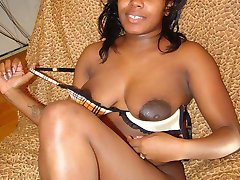Cha Cha young and sprung amateur showing off her big dark nipples