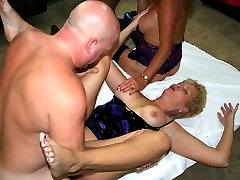 Tracy hosts another member gangbang party