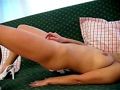 Hypnotic blondie Terry stripping her small skirt and rubbing her ass through bikini