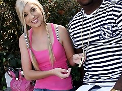 Interracial Cock Lover, Callie Cobra GangFucked By Black Cocks at Blacks On Blondes!