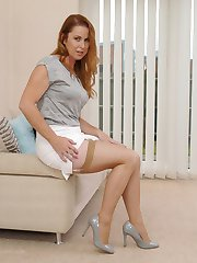 Hot British Milf Alison has you in her home, under her sexy high heels and great legs spell