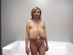 Alena (48 yo) - Big empty udders