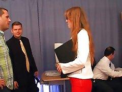 Veronica - RedHead Secretary Gangbanged