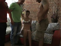 KATYA GAPING GANG CREAMPIE