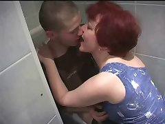 Russian mature mom and  boy! Amateur!