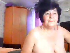 Game Grandma in front of webcam