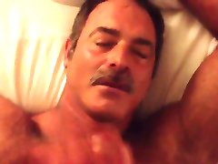 cumming on not daddys moustache