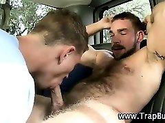 Sucked bear turns to slam ass