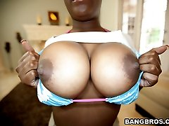 He gets to fuck Anna Halo on today's Brown Bunnies. This babe has a smooth milk chocolate body with huge massive tits, a fat pussy and a booty that's round to perfection.