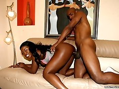 hot black babe with a huge ass gets fucked
