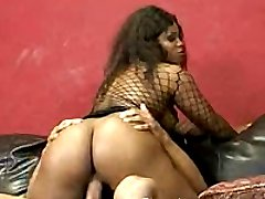 A very pretty black babe getting fucked and lovin it