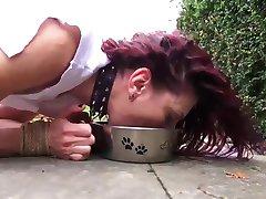 Teen slave Scarlet sex domination brutally vibed in bondage