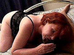 Hard fucking for a wild busty redhead