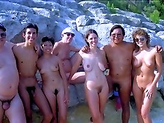 Amateur nudists walking naked