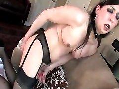 Tgirl gives herself a Prostate massage