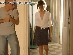 seducing plumber while her husband in the bathroom!