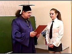 Trashed aged schoolteacher bangs a sweet little schoolgirl