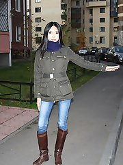 Asian amateur in hot public anal fucking