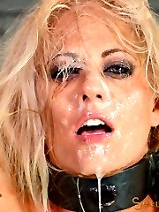 Holly Heart has a sex drive to match her body, and her body is out of control. Tanned and toned, this booming big breasted blonde bimbo is now officially a MILF. We love MILFs here at Sexuallybroken and reward them in the best way possible-with an overload of cock and orgasms. Today we are going to test this slut's multi-tasking skills. How well does this bimbo suck cock while cumming? Let's find out. For science!