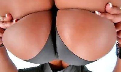 Brunette hottie getting pleasure from sniffing her panties