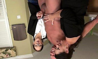 Stocking lesbian striptease