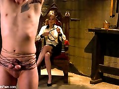 Madeline turns slave boy Dean into her personal little pussy boy.